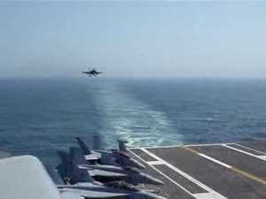 Jet Landing on Aircraft Carrier